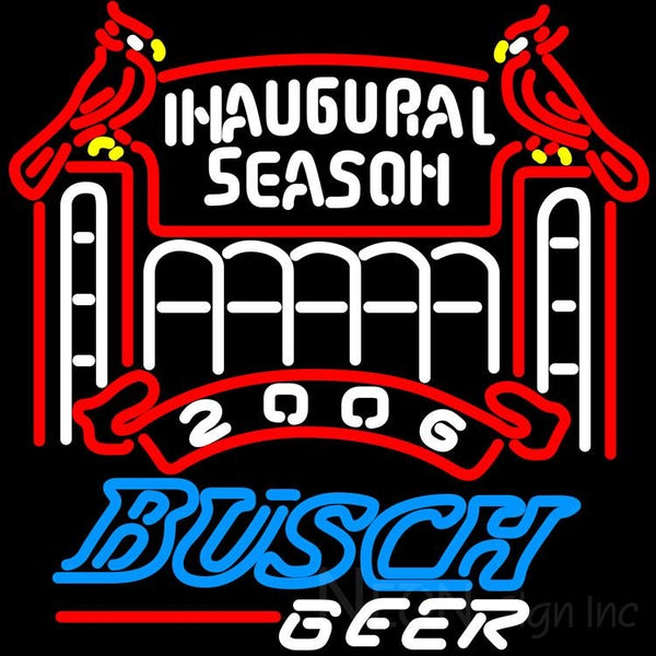 Busch 2006 Cardinals Stadium Neon Beer Sign
