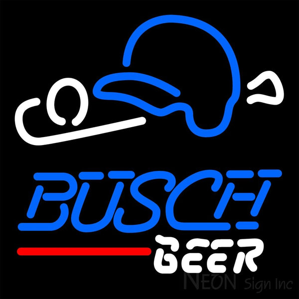 Busch Beer Baseball Neon Sign 16x16
