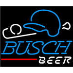 Busch Beer Baseball Neon Sign 24x20