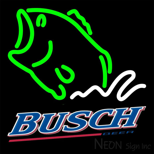 Busch Beer Bass Fish Neon Sign 16x16