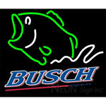 Busch Beer Bass Fish Neon Sign 24x20