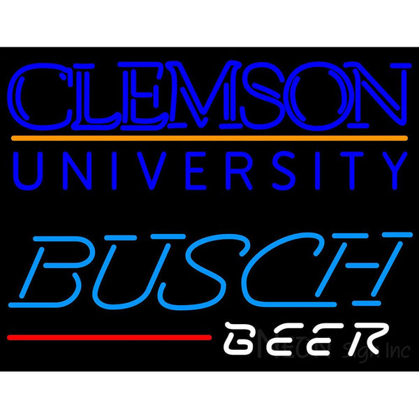 Busch Beer Clemson UNIVERSITY Neon Sign 4 0005