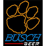Busch Beer Clemson UNIVERSITY Tiger Print Neon Sign 4 0005