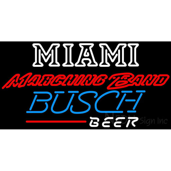 Busch Beer Miami UNIVERSITY Band Board Neon Sign 4 0005