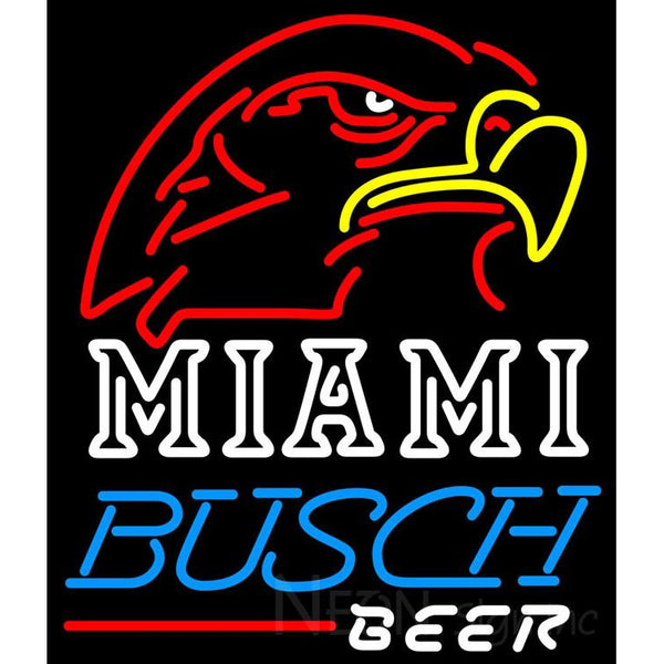 Busch Beer Miami UNIVERSITY Fall Session Neon Sign 4 0004