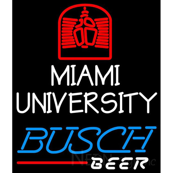 Busch Beer Miami UNIVERSITY Neon Sign 4 0005