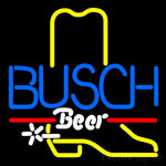 Busch Cowboy Boot Neon Beer Sign 16x16