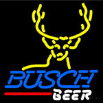Busch Deer Buck Neon Beer Sign 16x16
