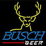 Busch Deer Buck Neon Beer Sign 24x24