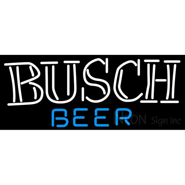 Busch Double Stroke Word Neon Beer Sign