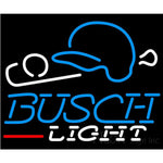Busch Light Baseball Neon Sign 24x20