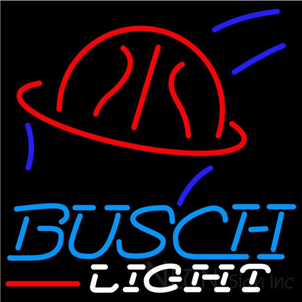 Busch Light Basketball Neon Beer Sign 24x24