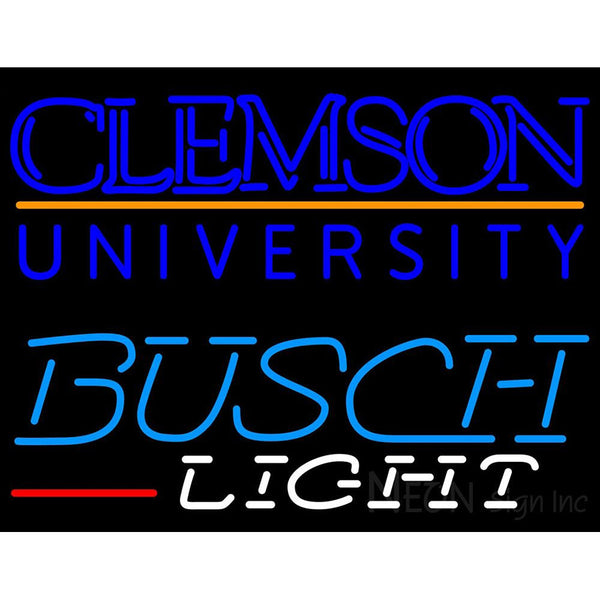 Busch Light Clemson UNIVERSITY Neon Sign 4 0004
