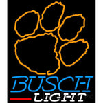 Busch Light Clemson UNIVERSITY Tiger Print Neon Sign 4 0004