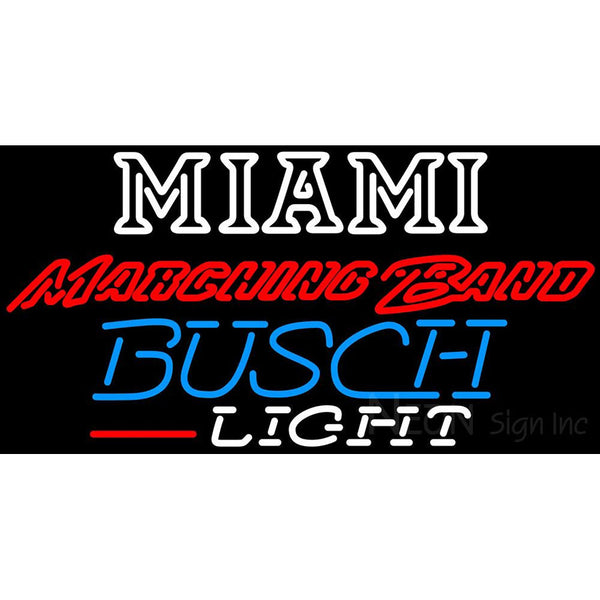 Busch Light Miami UNIVERSITY Band Board Neon Sign 4 0004
