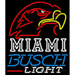 Busch Light Miami UNIVERSITY Fall Session Neon Sign 4 0005