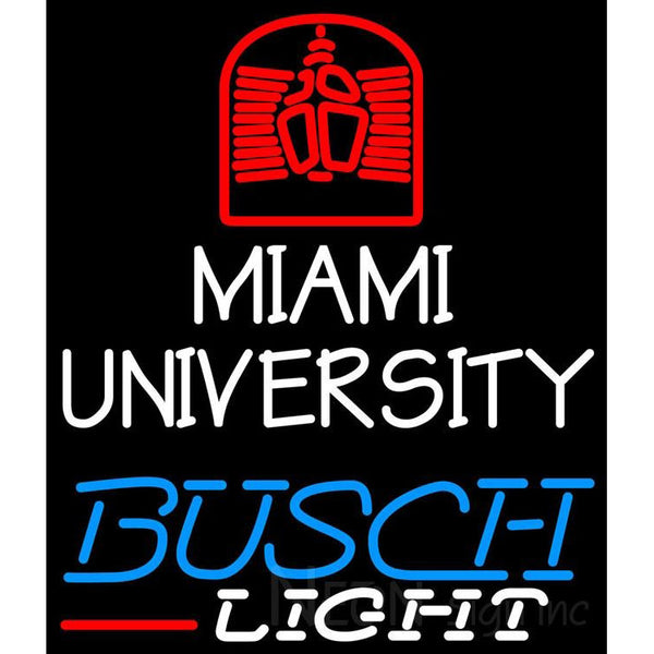 Busch Light Miami UNIVERSITY Neon Sign 4 0004