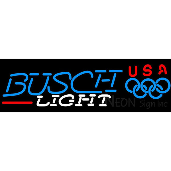 Busch Light Olympic Neon Beer Sign