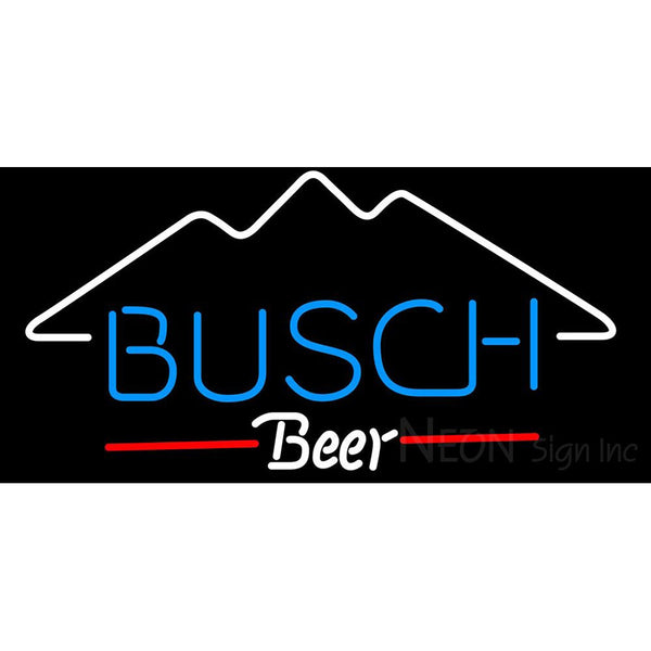 Busch Mountain Neon Beer Sign