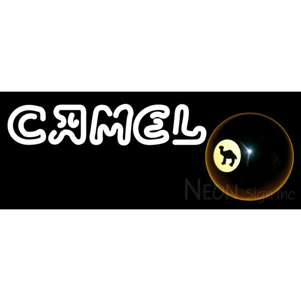 Camel Cigarettes Billiard Ball Neon Sign