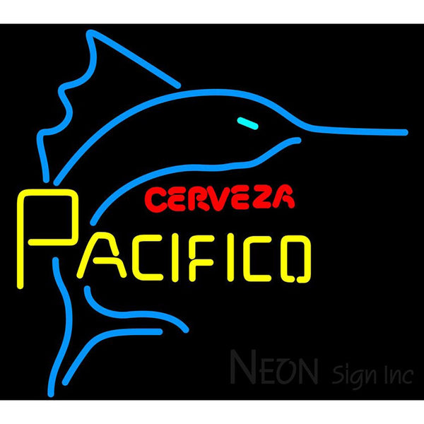 Cerveza Pacifico Large Marlin Neon Beer Sign
