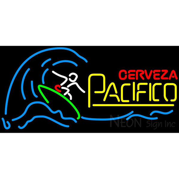 Cerveza Pacifico Surfer Wave Neon Beer Sign