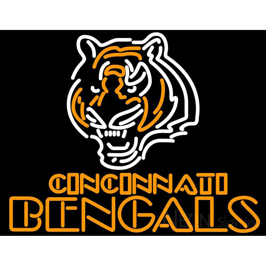 620b0b54 Cincinnati Bengals Name And Logo NFL Neon Sign