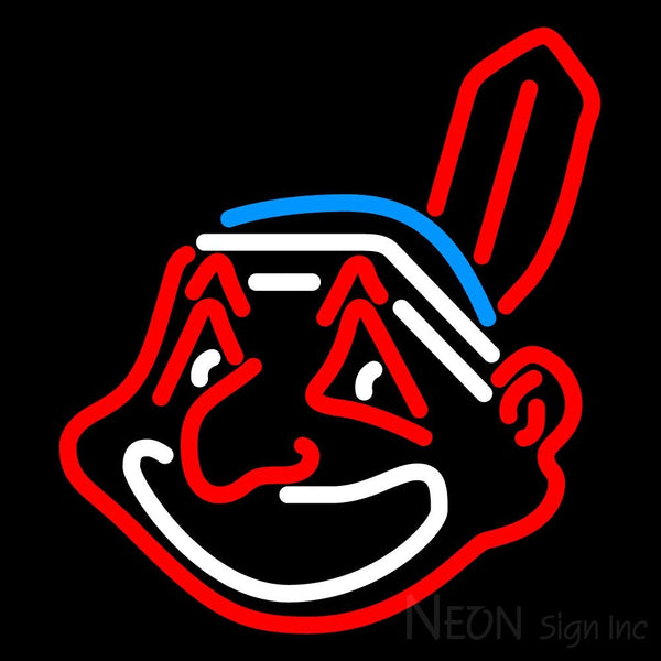 Cleveland Indians MLB Neon Sign