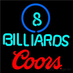 Coors Ball Billiards Pool Neon Beer Sign 8 0009 16x16