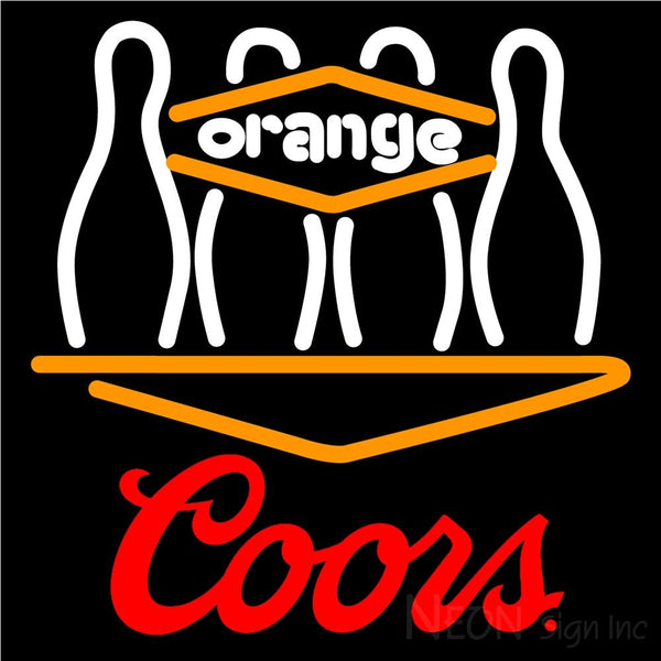 Coors Bowling Orang Neon Sign 9 0025 16x16