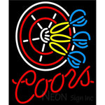 Coors Darts Neon Sign