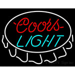 Coors Light Bottle Cap Neon Beer Sign