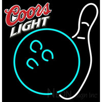 Coors Light Bowling Neon White Sign 9 0012 24x25