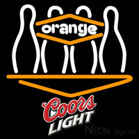 Coors Light Bowling Orang Neon Sign 9 0028 16x16