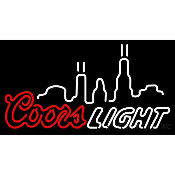 Coors Light City Logo Neon Sign