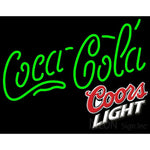 Coors Light Coca Cola Green Neon Sign 10 0004