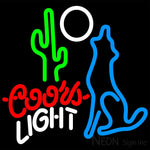 Coors Light Coyote Moon Neon Beer Sign 16x16