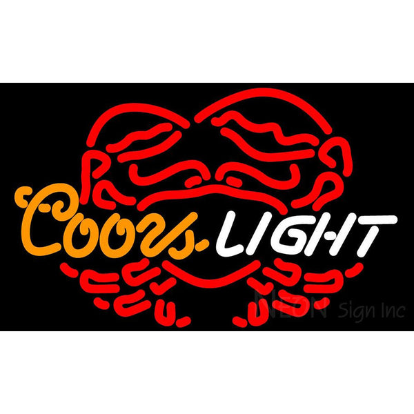 Coors Light Crab Logo Neon Beer Sign