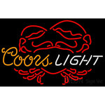 Coors Light Crab Neon Beer Sign