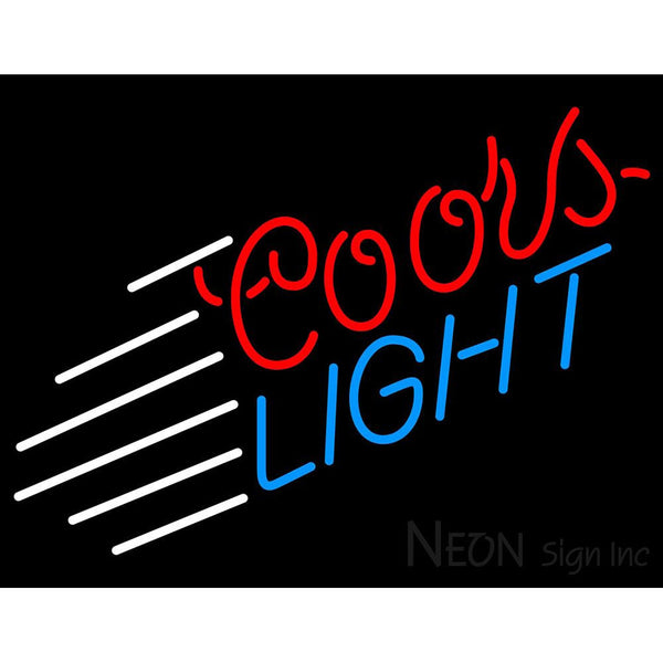 Coors Light Lines Neon Beer Sign
