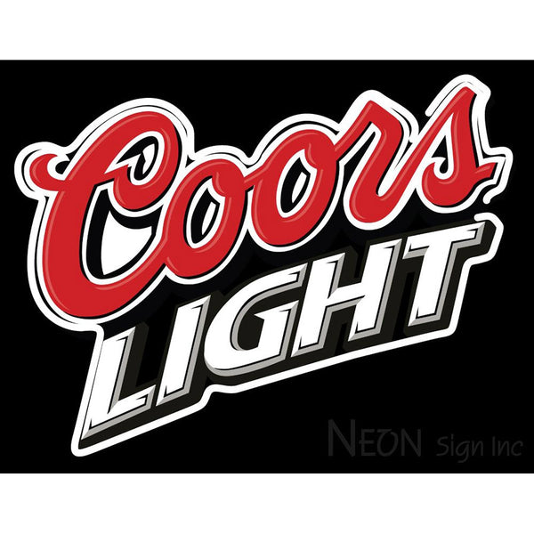 Coors Light Logo Neon Sign 2