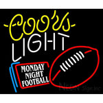 Coors Light Monday Night Football Neon Beer Sign