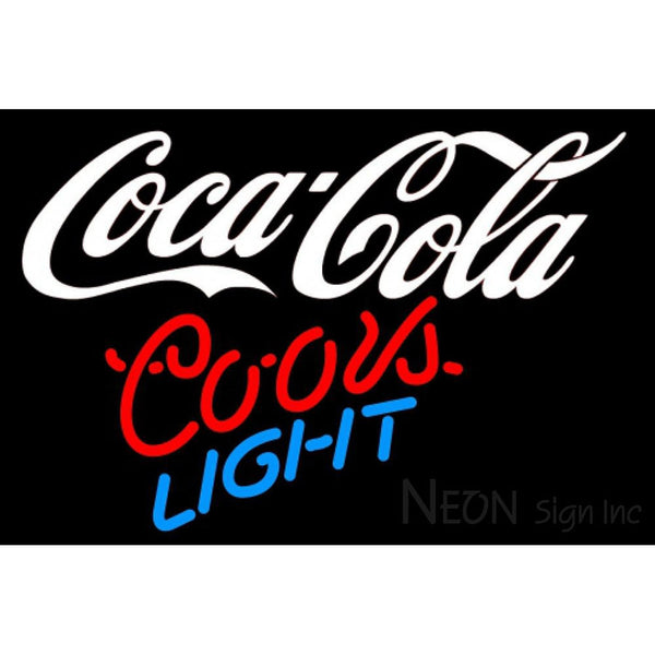 Coors Light Neon Coca Cola White Neon Sign 10 0007