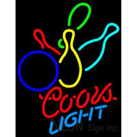Coors Light Neon Colored Bowling Neon Sign 9 0049
