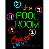 Coors Light Neon Pool Room Billiards Neon Beer Sign 8 0047