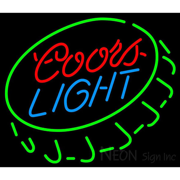 Coors Light Open Bottle Cap Neon Beer Sign
