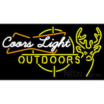 Coors Light Outdoors Neon Sign