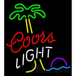 Coors Light Palm Tree Moon Neon Beer Sign