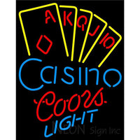 Coors Light Poker Casino Ace Series Neon Sign