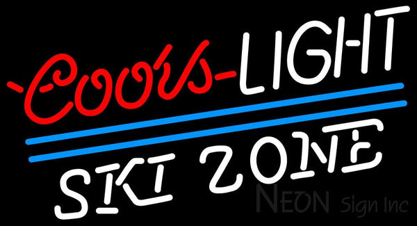 Coors Light Ski Zone Neon Beer Sign